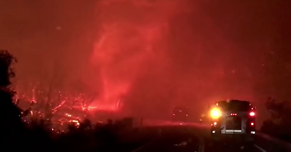 Source: YouTube/TIME The tornado was caused by incredibly hot smoke and ash rising from the Carr Fire.