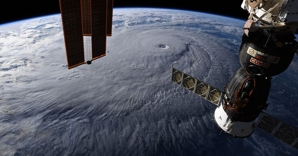 Source: flickr/NASA Goddard Space Flight Center A view of Hurricane Lane from space.