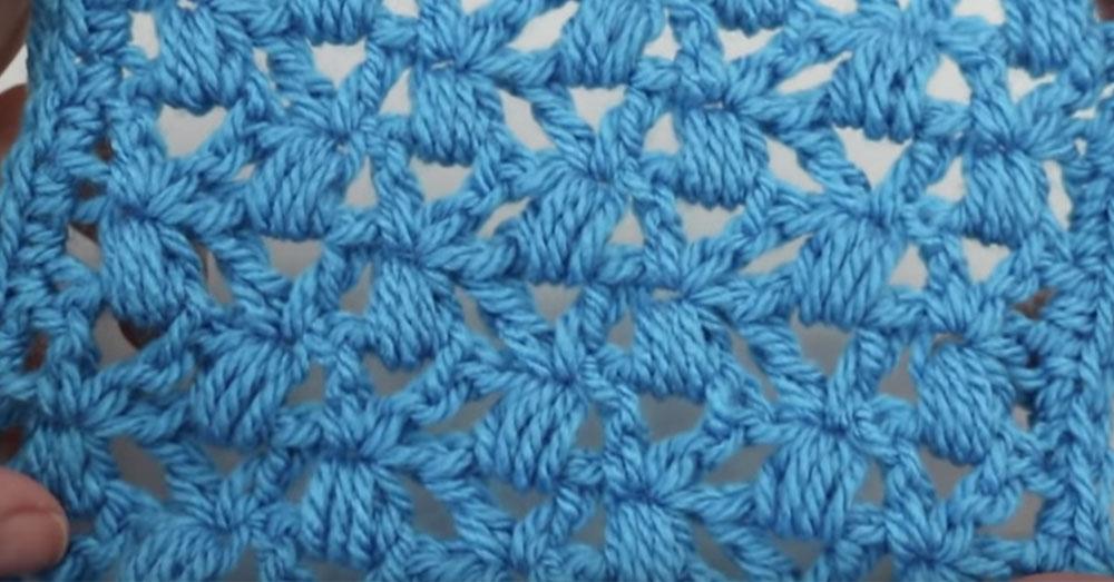 Lace Cluster Stitch 24 Blocks