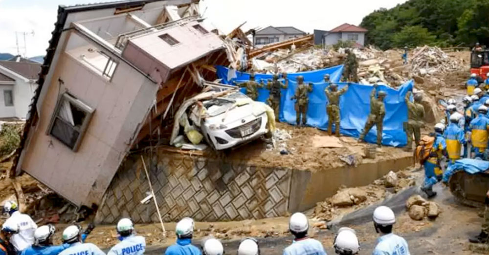 Source: YouTube/Cities of the World After a dam burst upstream, homes in the Ehime Prefecture took the brunt of the oncoming floods.