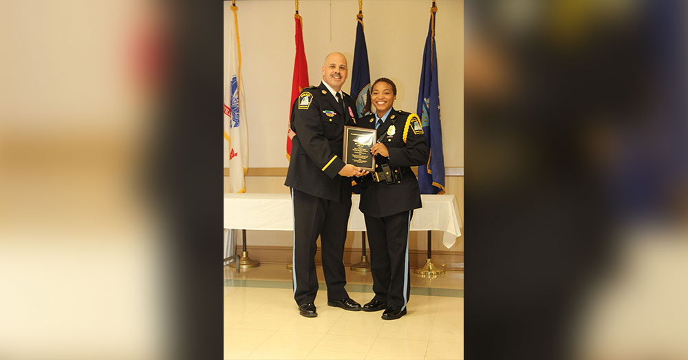 Source: InspireMore Officer Hawkins-Graham was named officer of the year.