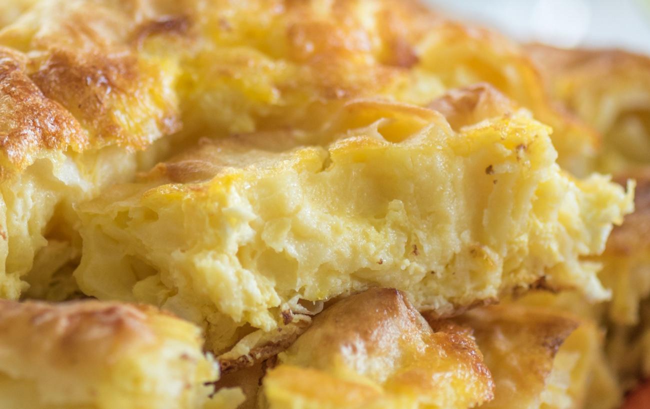 Homemade cheese pie