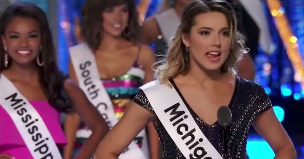 Source: YouTube/NBC News Miss Michigan, Emily Siona.