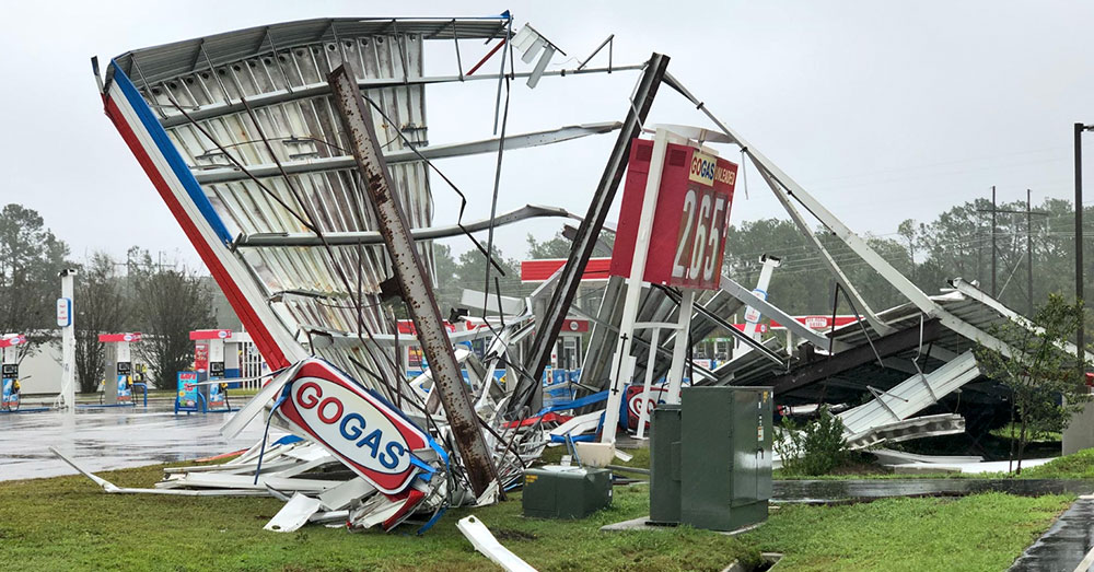 Source: Twitter/chefjoseandres Damage from Hurricane Florence.