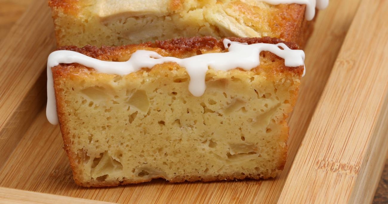 Frosted Buttermilk Apple Loaf