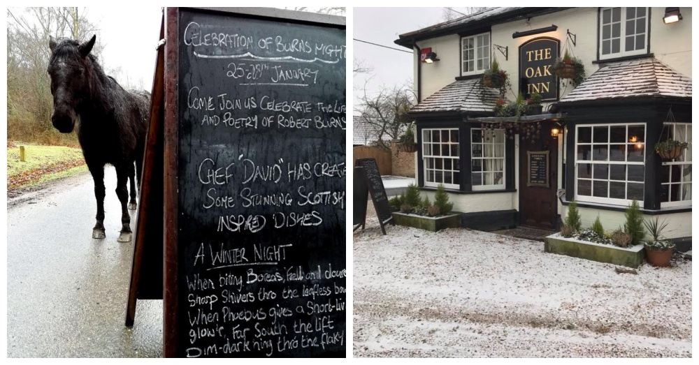 Photos: Facebook/The Oak Inn, Bank, Lyndhurst, The New Forest