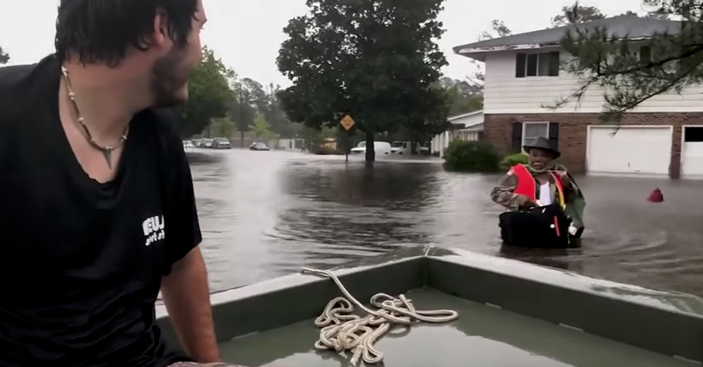 Source: YouTube/Charlotte Observer New Bern, North Carolina, has been copletely flooded.