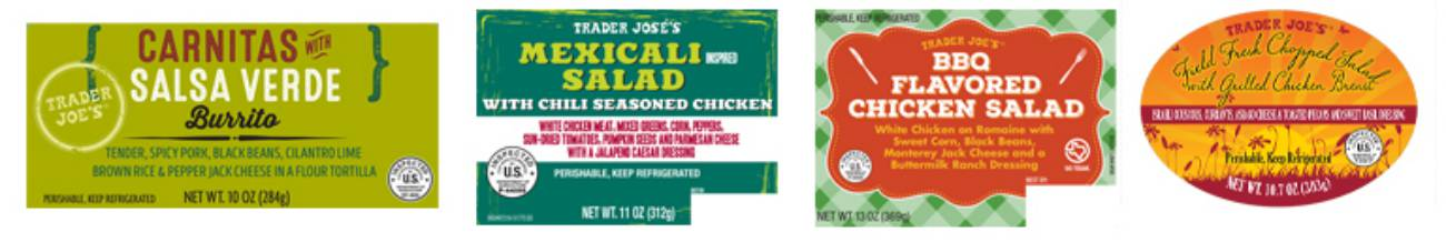 Food Recall Product Lables