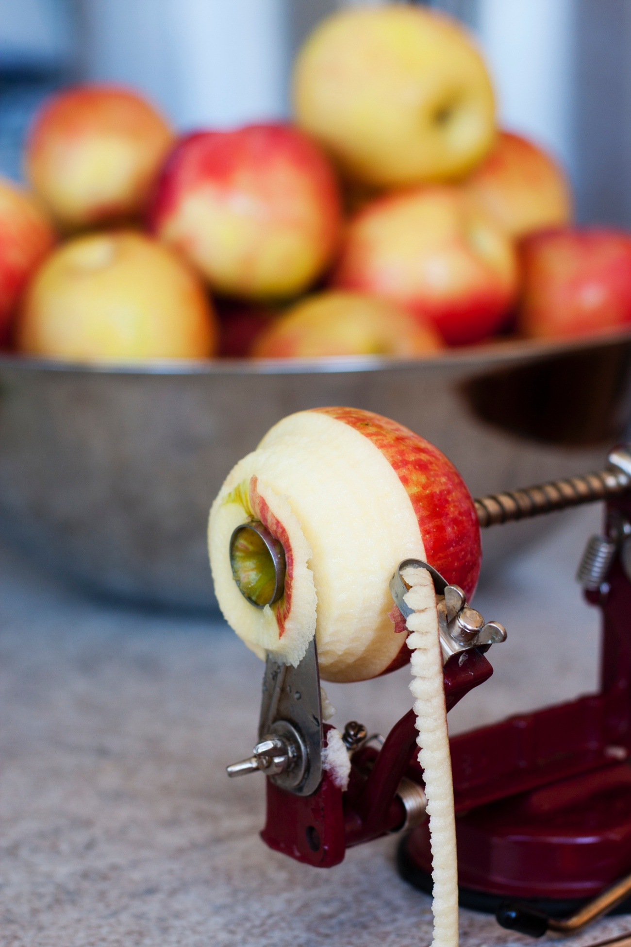 Peeling, Coring, and Slicing an Apple
