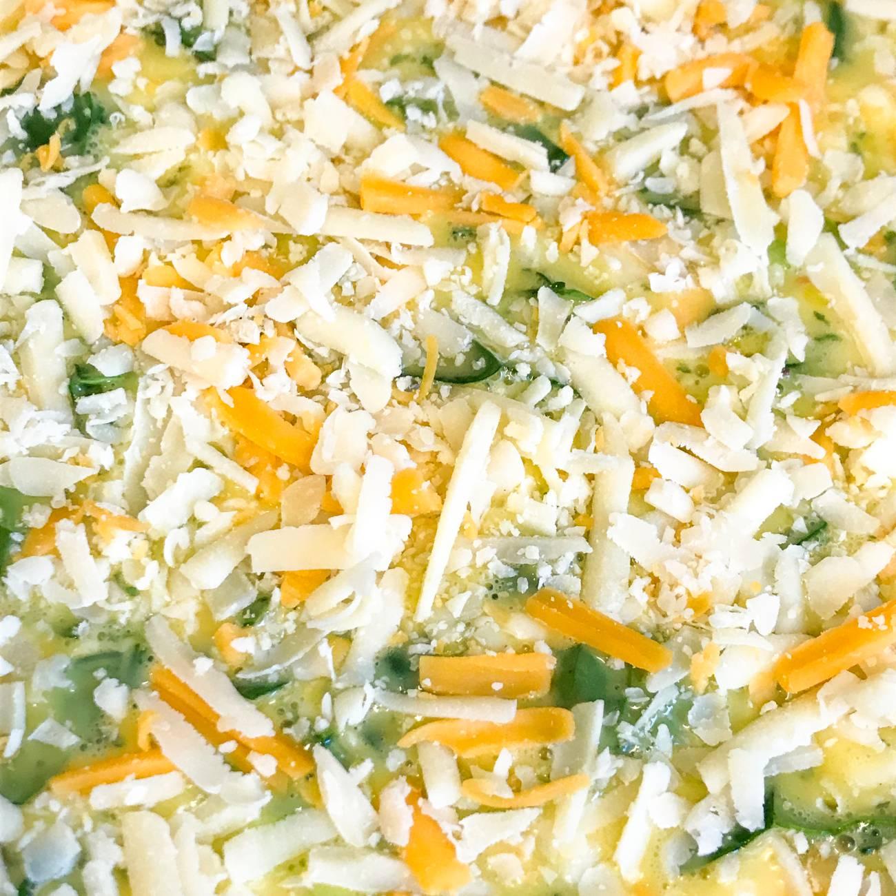 Cheesy Spinach Quiche
