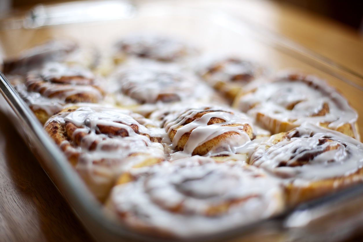 holiday cinnamon roll pastries