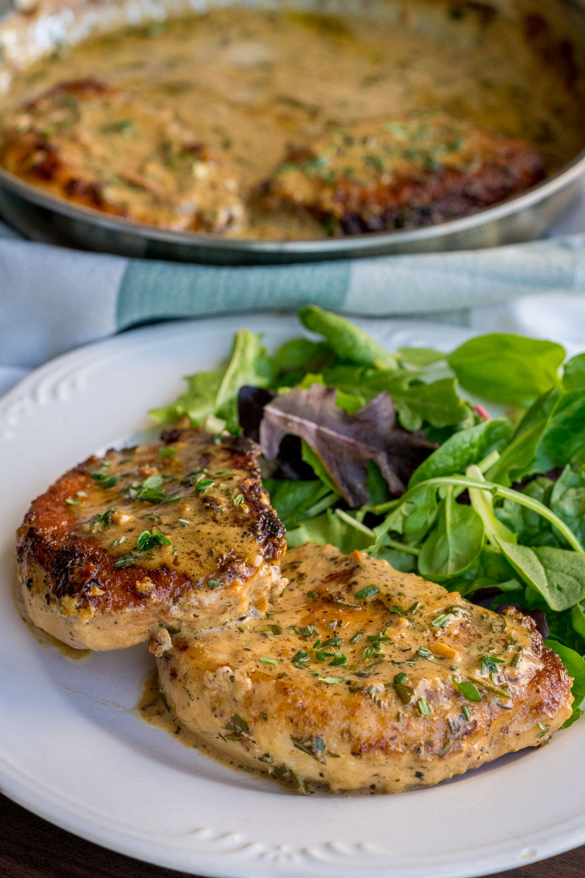 Garlic and Herb White Wine Pork Chop Skillet Vertical (5 of 5)
