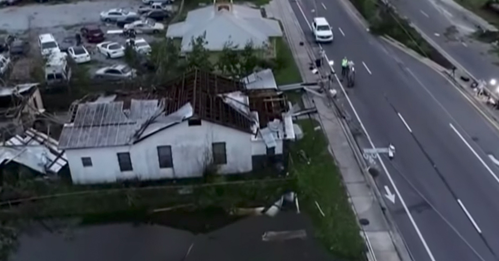 Source: YouTube/ABC News Hurricane Michael passed through Florida, Georgia, Alabama, and the Carolinas, leaving widespread flooding.