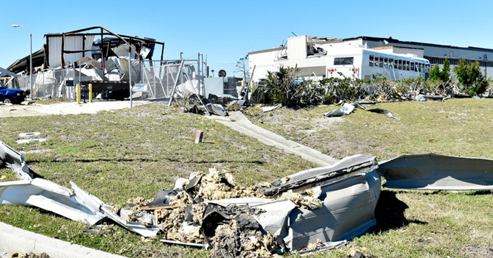 Source: Air Mobility Comand Hurricane Michael ripped through Tyndall Air Force Base, Florida, and the surrounding area leaving severe damage through its path.