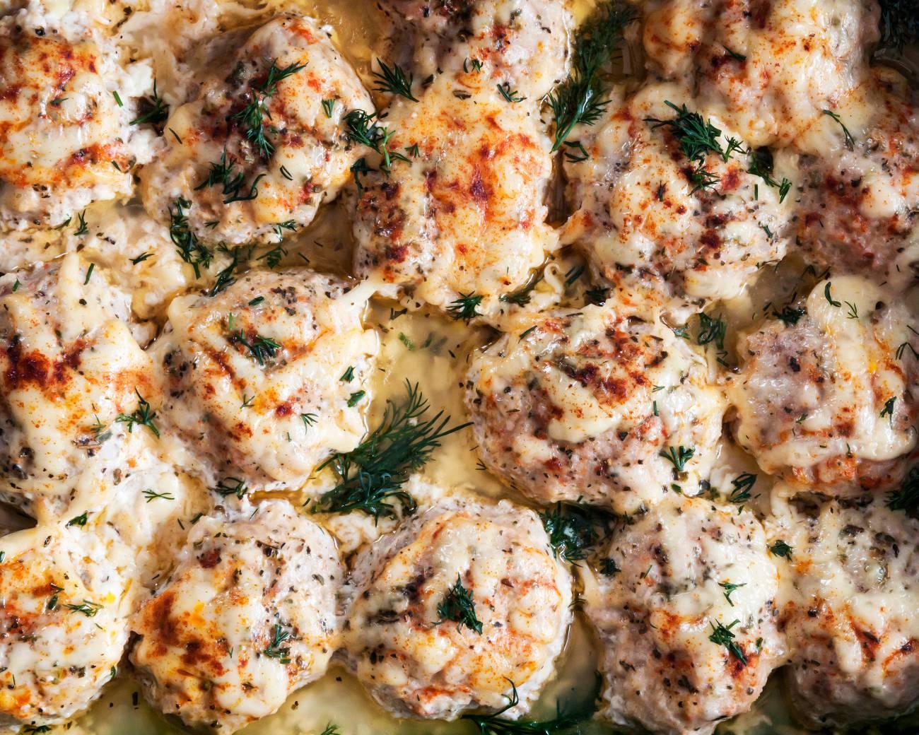 Sour Cream Sauce Chicken Meatballs Main
