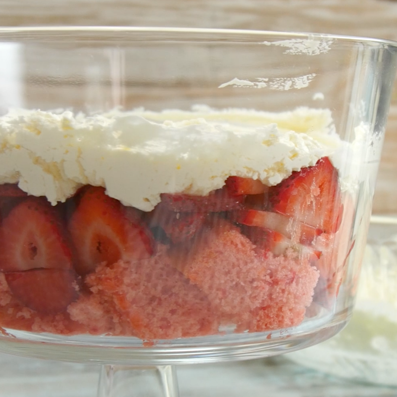 Strawberry Key Lime Trifle Cream Layer