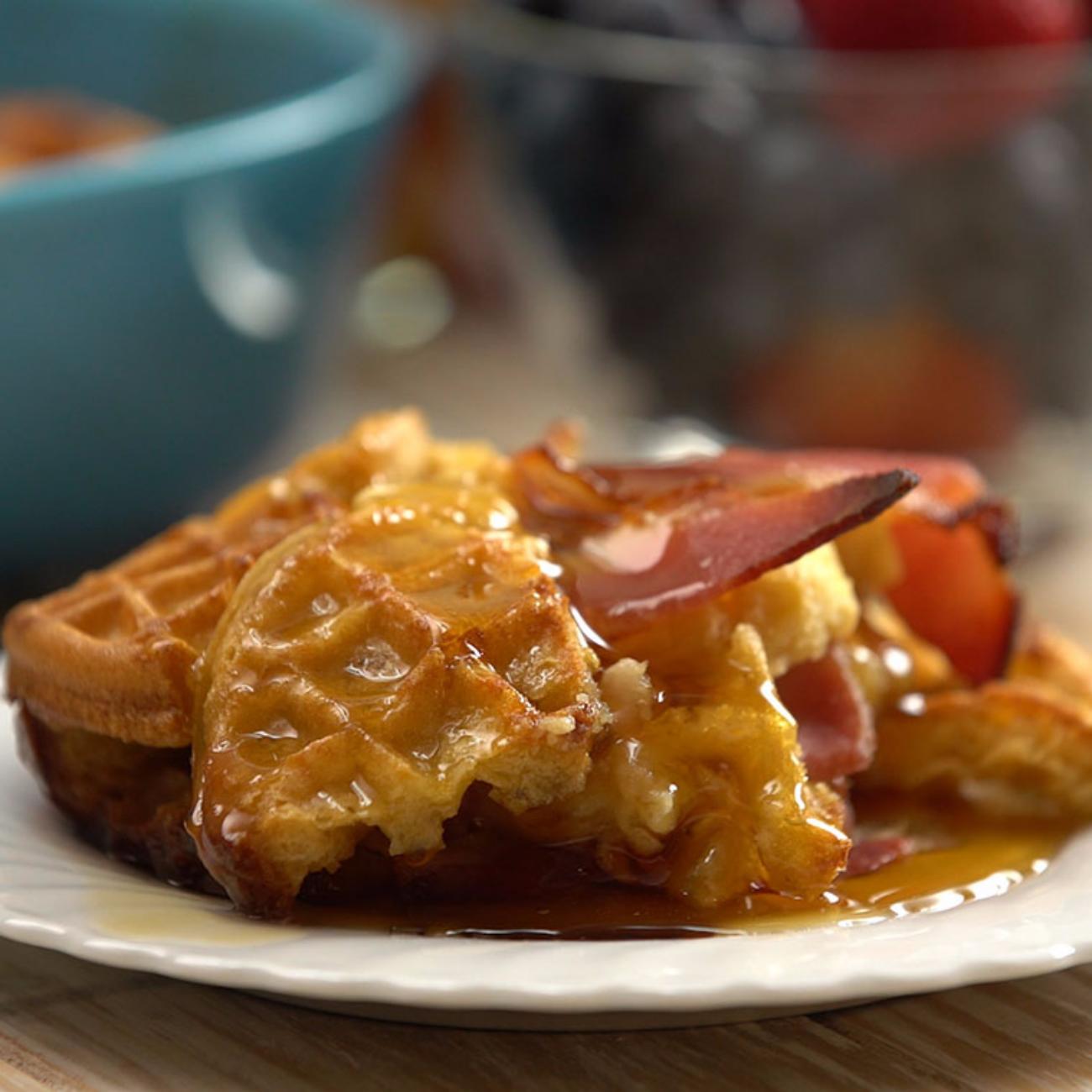 Waffle Bacon Casserole Main