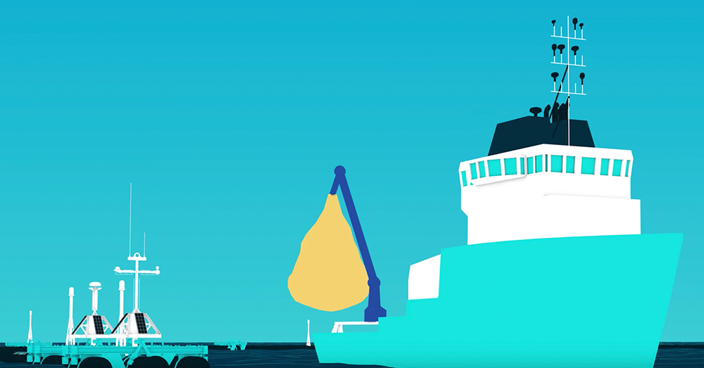 Source: YouTube/The Ocean Cleanup The trash will be taken back to shore to be sorted and recycled.