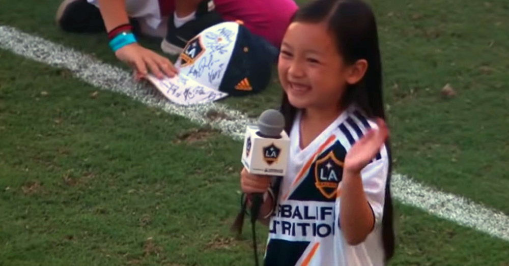 Source: YouTube/Major League Soccer Malea really gave it her all!