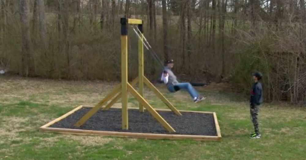 Kind Handyman Builds A Special Swing Set For Autistic