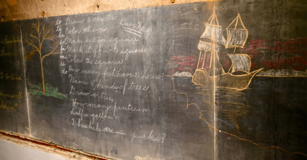 School Stumbles Upon Chalkboards From 1917 During Renovation, Perfectly Preserved Lessons Provide Rare Look Into Past.