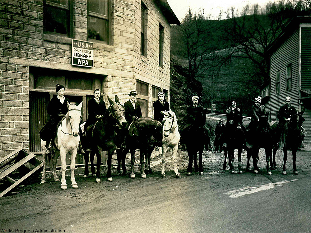 women riders of the Pack Horse Library Initiative