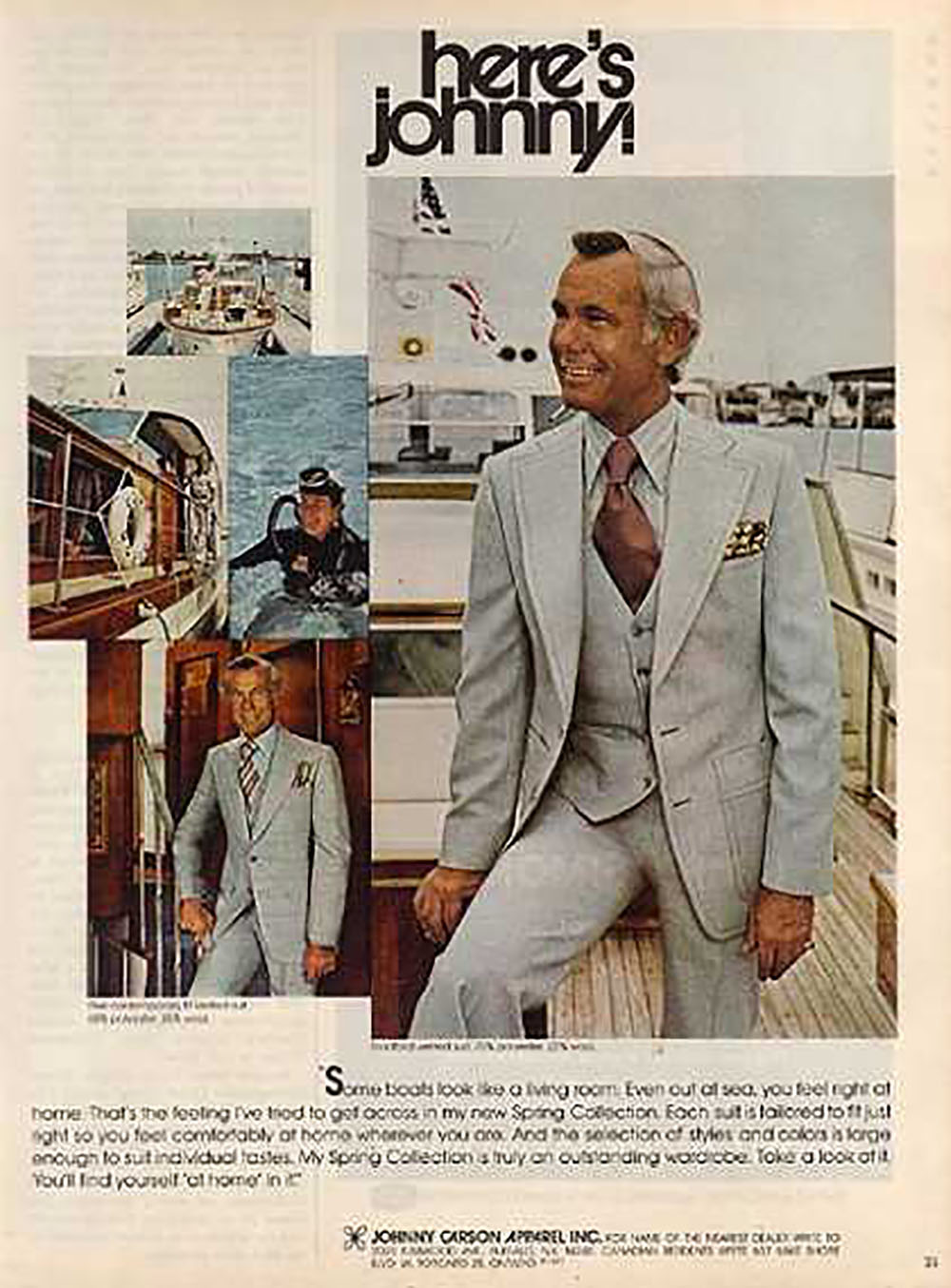 A Peek At Johnny Carson S Clothing Line From 1973 Dusty Old Thing
