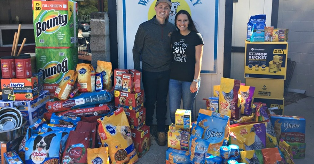 Newlyweds Ask For Donations To Local Animal Shelter Instead Of Wedding Presents