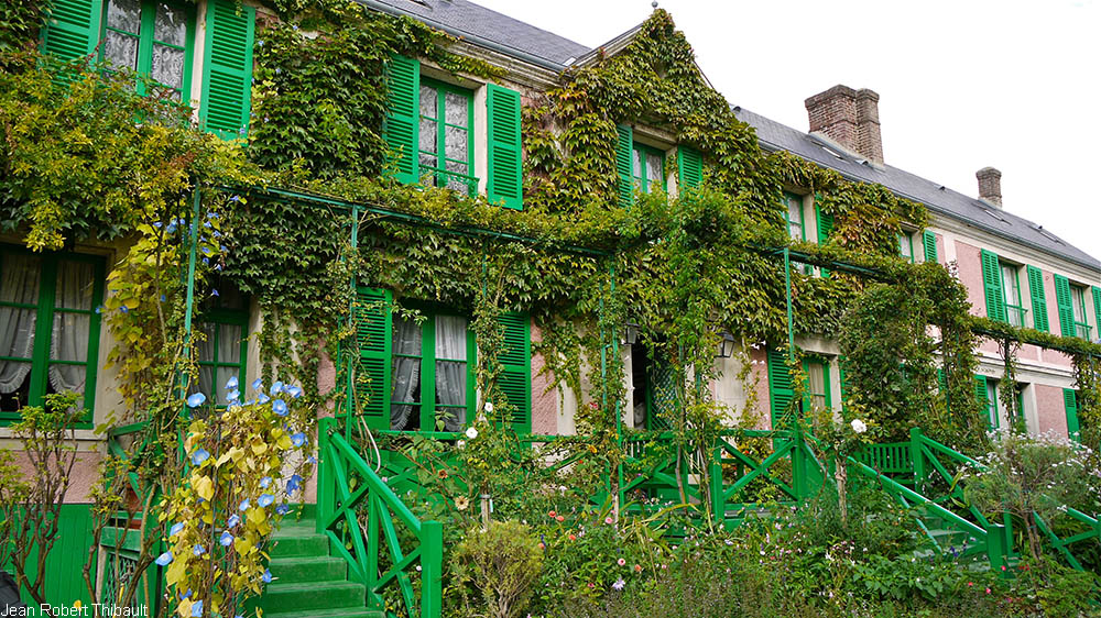 entrance of Claude Monet house, Giverny, France