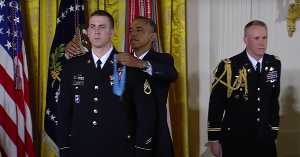 Staff Sgt. Pitts was awarded the Medal of Honor for his actions.