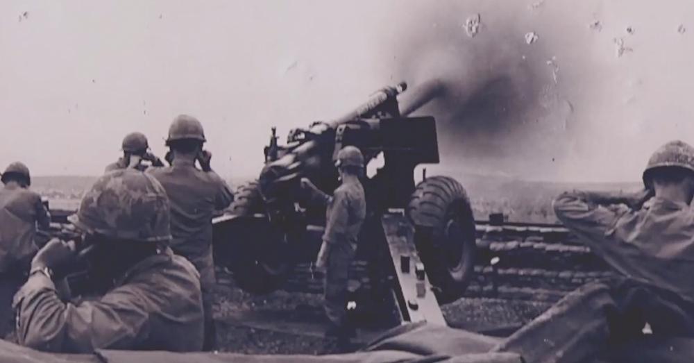 Artillery at Fireebase Kate.