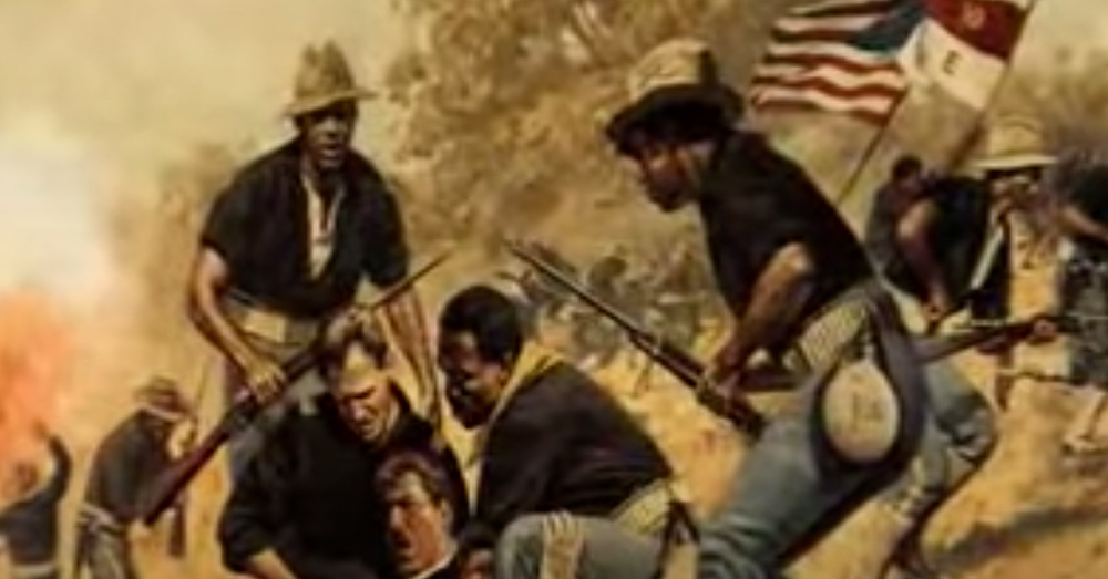 The Buffalo Soldiers charged up San Juan Hill, flanking the Rough Riders.