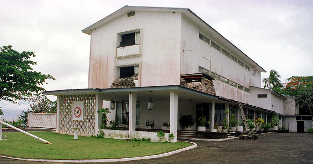 US Embassy in Monrovia, Liberia.