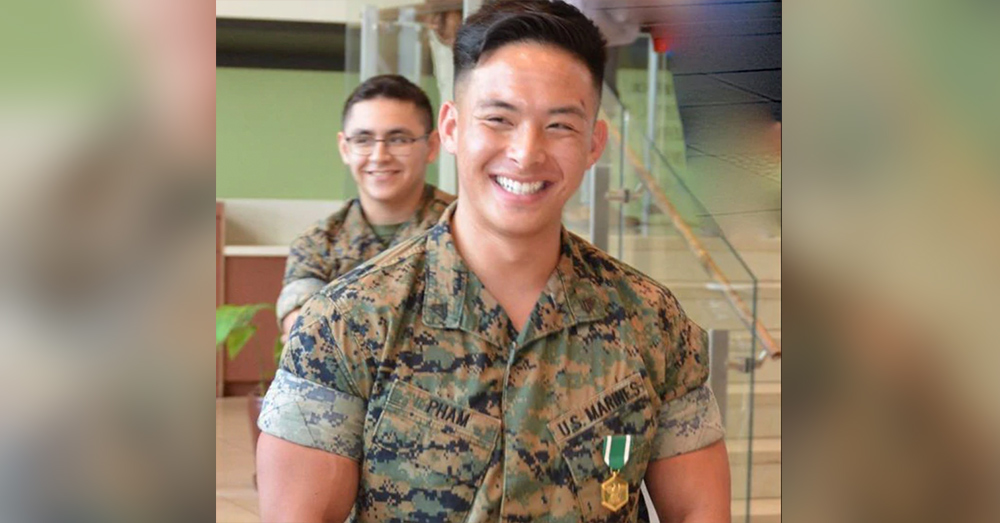 Cpl. Aaron Pham and Marine Sgt. Parker Crosson were awarded for their actions in the rescue.