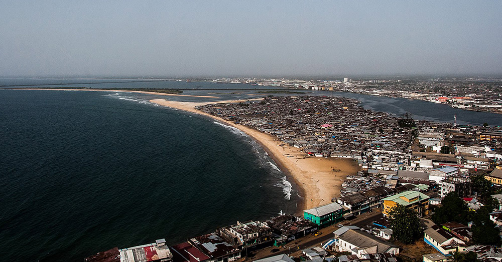 The beach at Monrovia, Liberia.