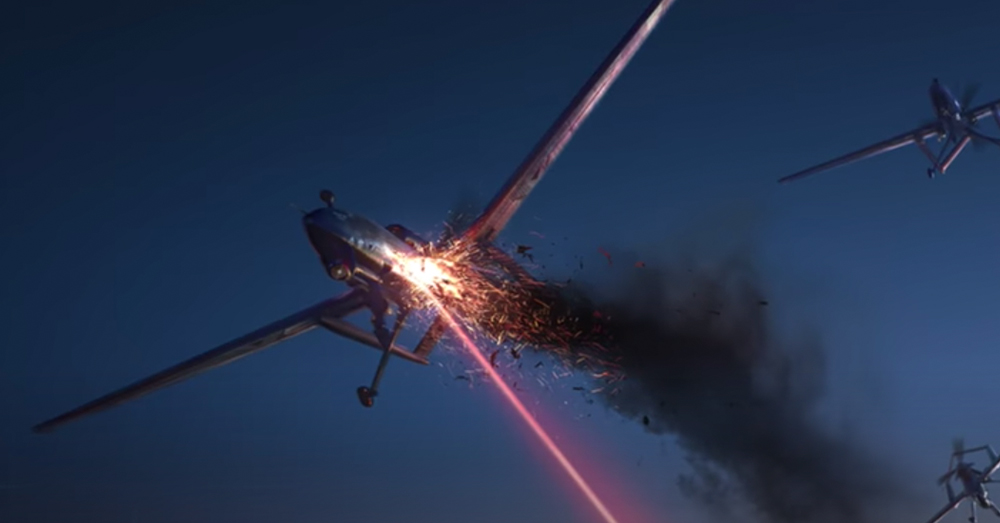 Focused lasers can be used to take down drones.