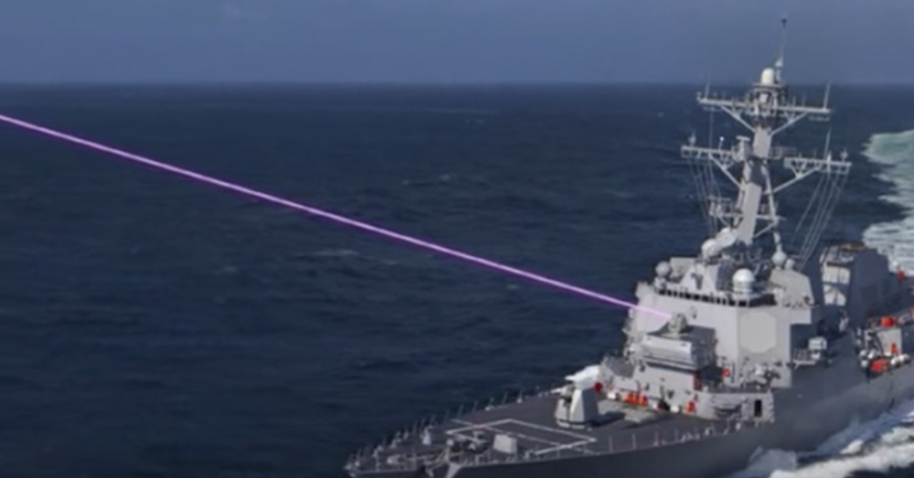 Lasers can be used to disable oncoming threats or temporarily blind attackers.