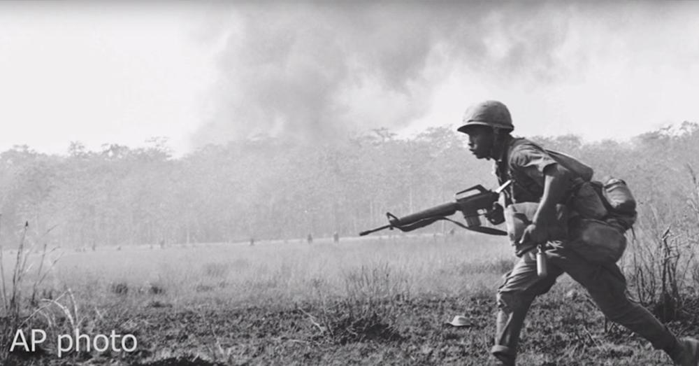 Felton ran across a battlefield to get his men back.