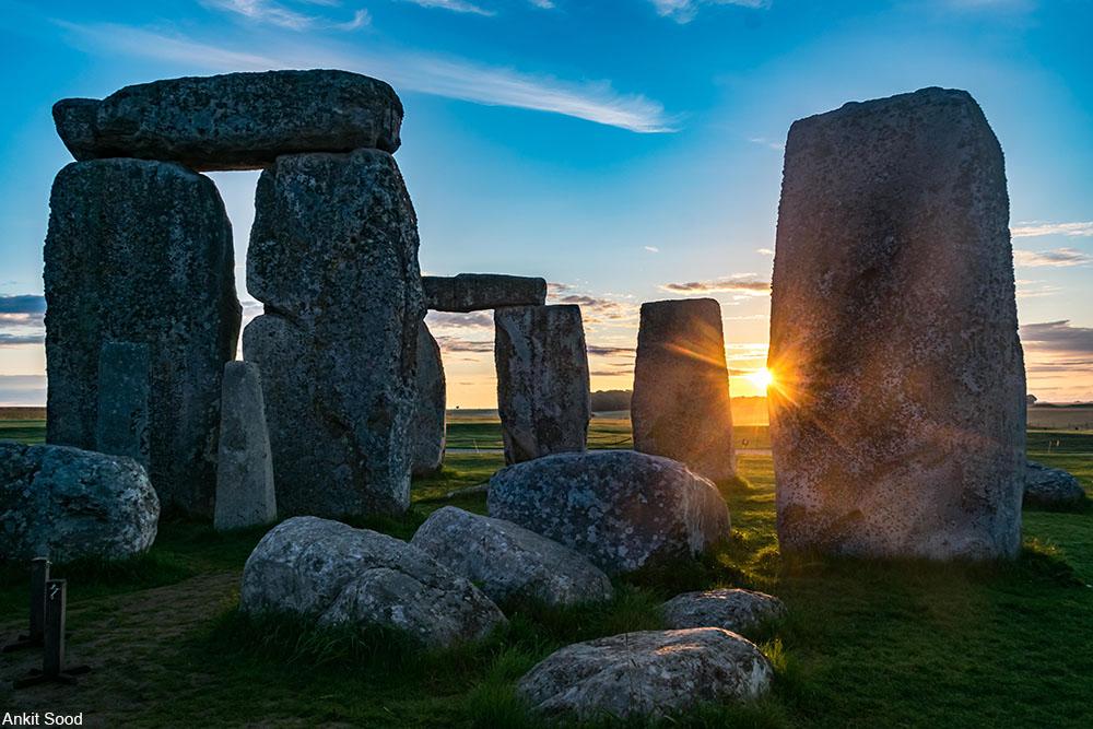 Stonehenge at dusk