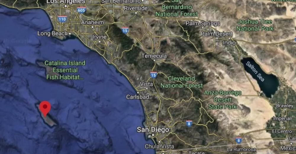 The incident occurred near San Clemente Island.