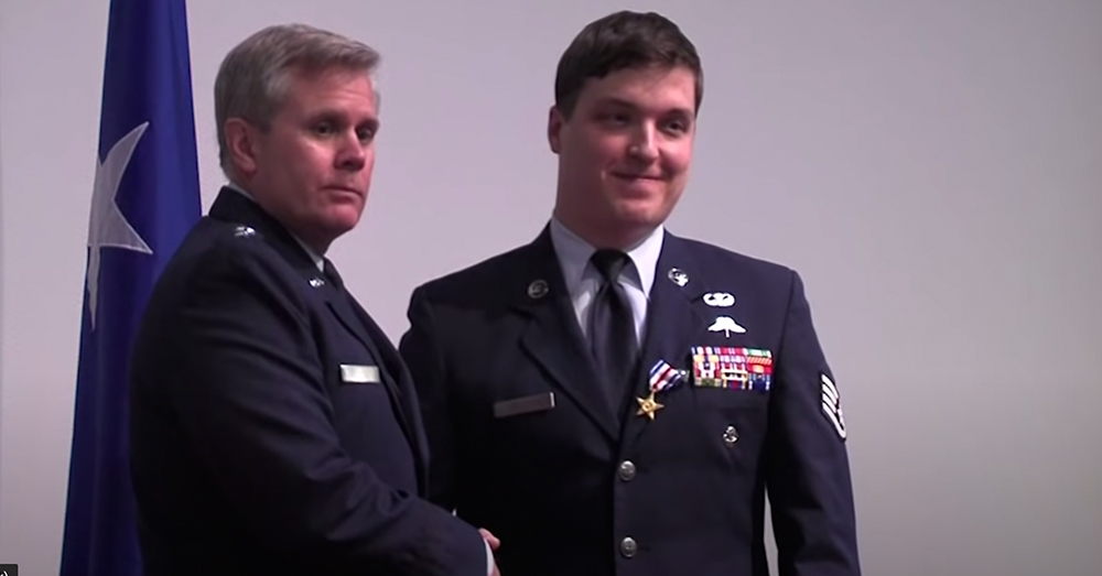 The Staff Sgt. experienced a ceremony steeped in military tradition.