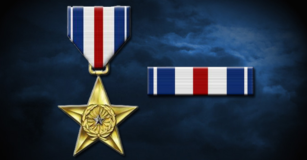 The Silver Star is awarded for gallantry in action.