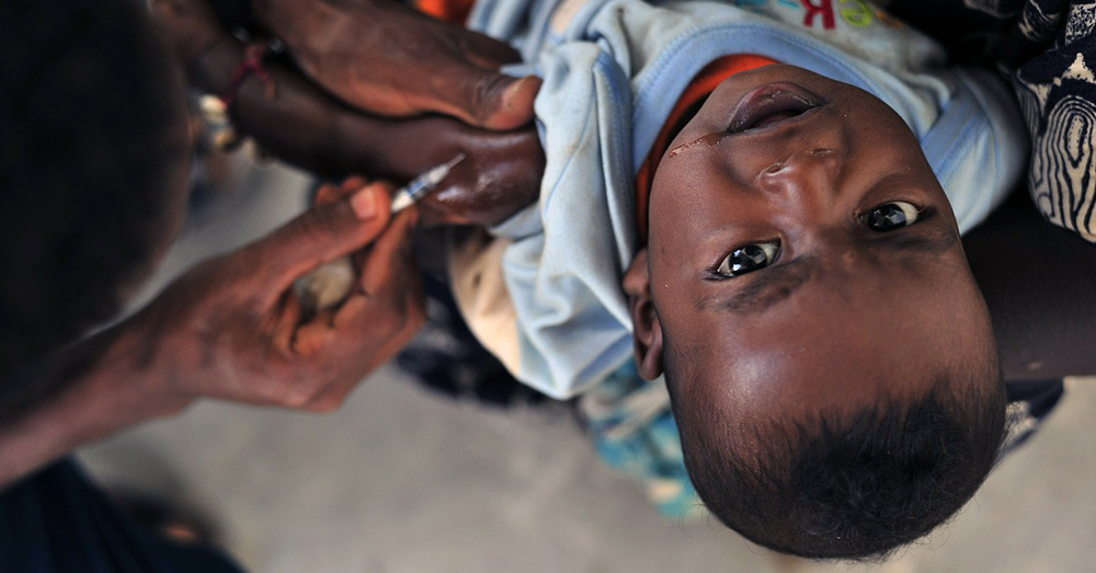 More than 95% of the population in Africa has been vaccinated from polio.