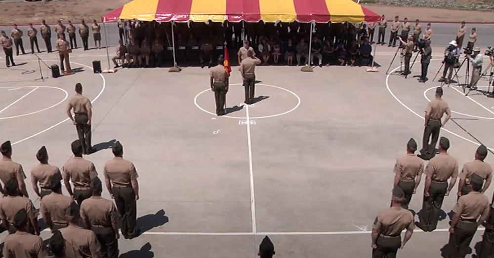 HM1 Benny Flores was awarded the Silver Star in an official USMC ceremony.