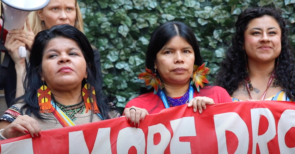 The women warriors of the Amazon fight for their environment.