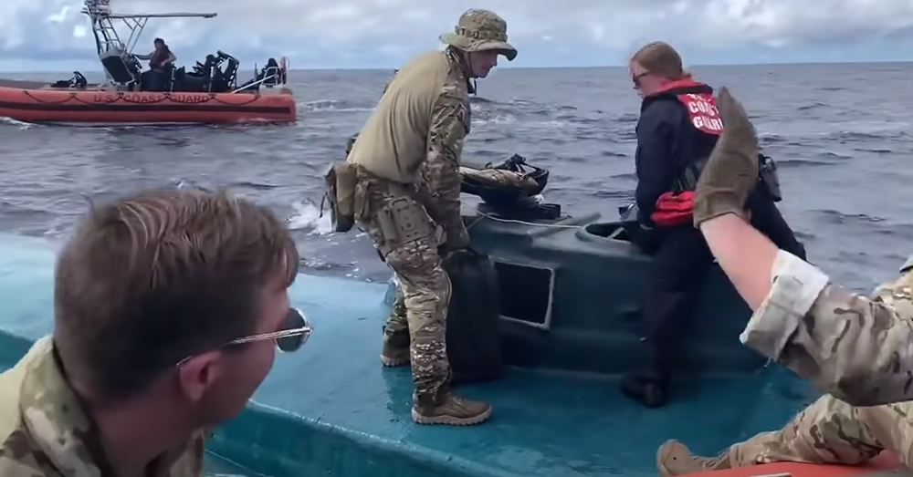 The Coast Guard intercepted a submersible craft filled with cocaine.