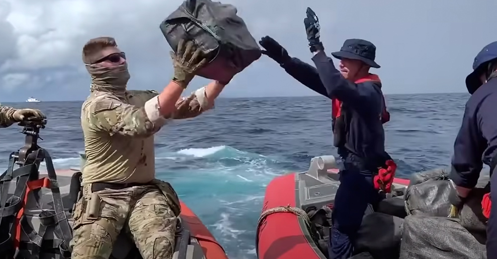 The Coast Guard makes a number of large drug busts each year.