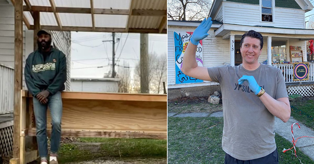 D'Real Graham and local realtor Tyler Weston started Ypsi Local and the community pantry.