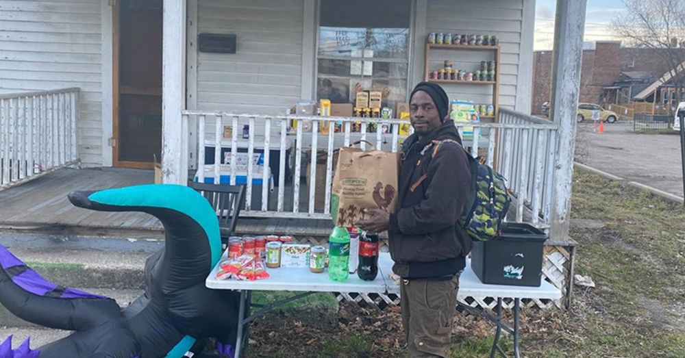 Community members have been finding and leaving food and necessities at the pantry since mid-March.