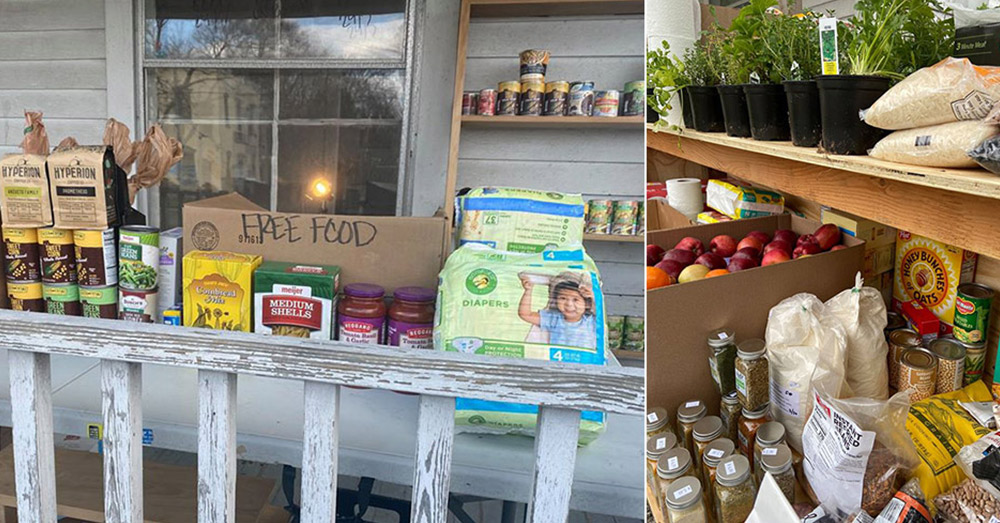 The selection of food at the pantry is growing, and so is local support.